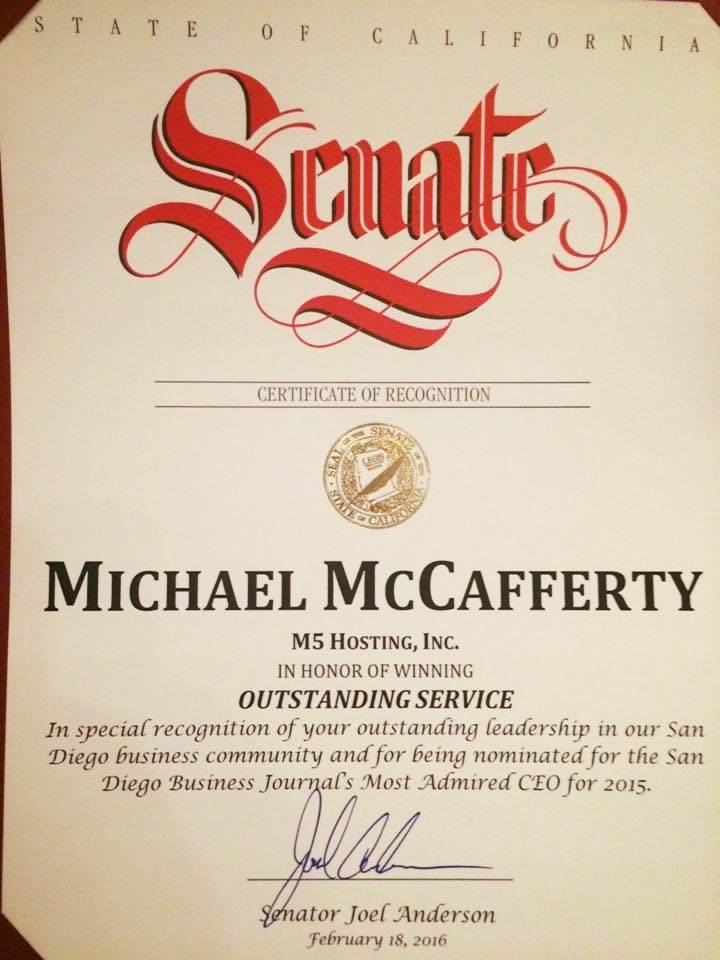 Mike Senate Cert
